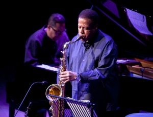 Wayne Shorter at Birmingham Town Hall in 2012. (Photo © John Watson/jazzcamera.co.uk)