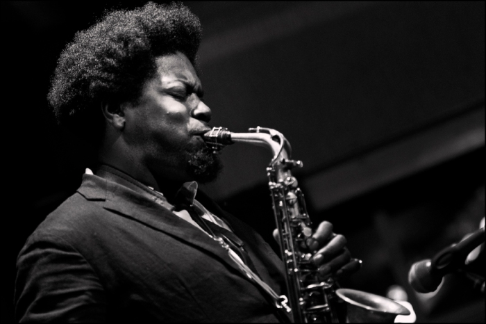 Soweto Kinch at the launch of the Silvershine Jazz Club at Bearwood Corks Club last week (Picture © Garry Corbett)