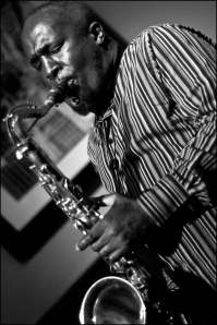 Tony Kofi playing at The Red Lion for Birmingham Jazz. (Photo © Garry Corbett)