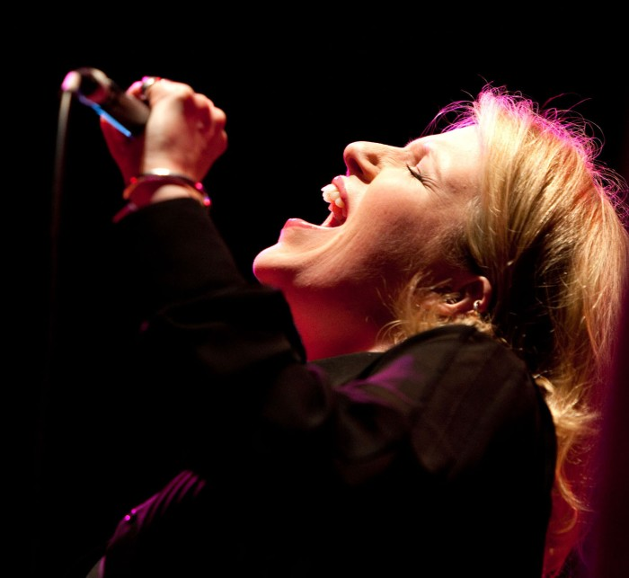 Clare Teal - passionate singing at Bristol. Photo © John Watson