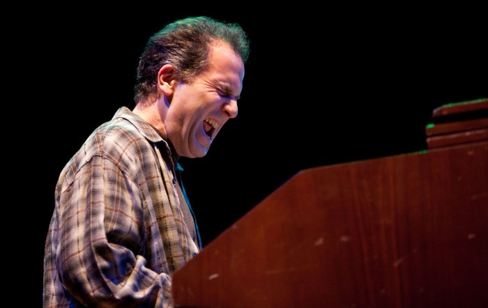 Organist Larry Goldings with John Scofield's Organic Trio at the Bristol festival. Photo © John Watson