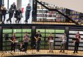 A moment during the performance of Terry Riley's In C at Birmingham Library (Photo © Hugh Lawrence)