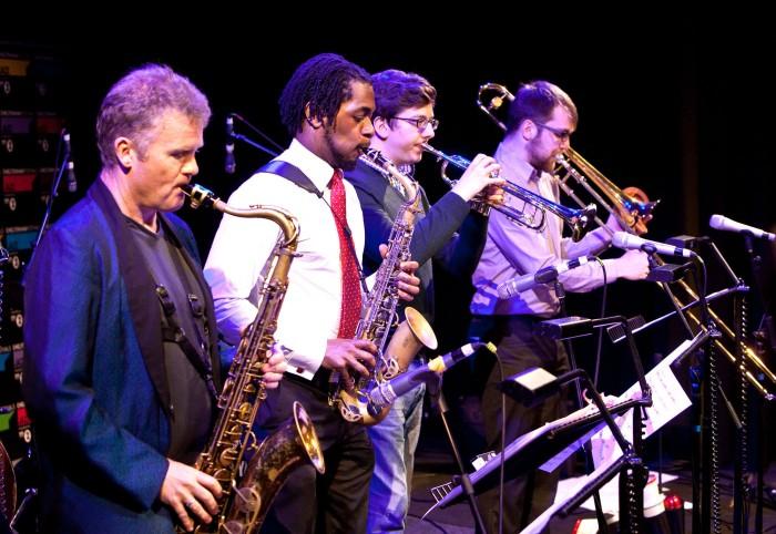 Iain Ballamy, Nathaniel Facey, Freddie Gavita and Kieran McLeod (Photo © John Watson/jazzcamera.co.uk)