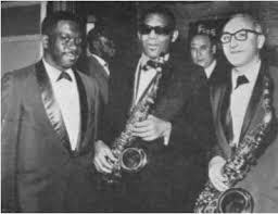 Vic Ash with Wallace Davenport and Ray Charles.