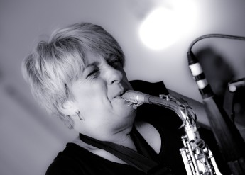 Not Nick! Anne Tinsley, one of the star soloists with Walsall Jazz Orchestra (Photo © John Watson/jazzcamera.co.uk)