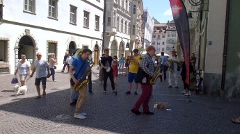 Brass Mask in Bolzano (Photo © Alison Bentley)