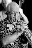 Guest curator and trumpeter in Chris Biscoe's Mingus Profiles band. (Photo © Garry Corbett)