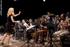 Maria Schneider and her orchestra.