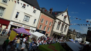 Brecon at jazz festival time - visitors fill the streets but they don't buy enough tickets