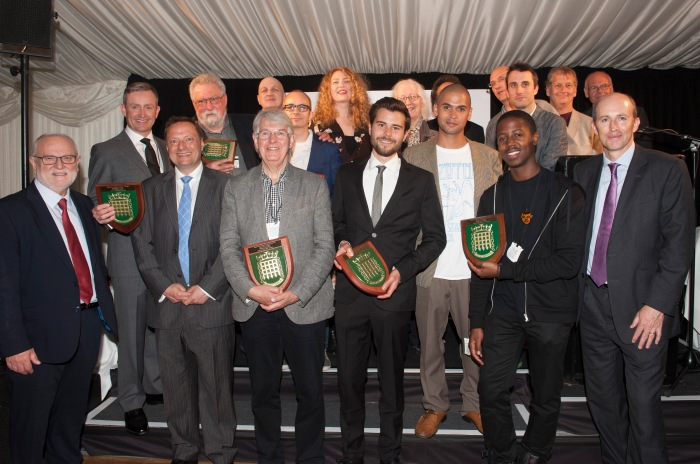 Winners all - the APPJAG trophy holders at the Houses Of Parliament last night.
