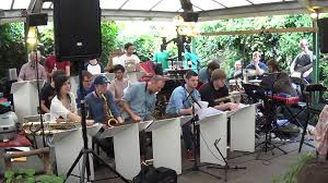 The Jonathan Silk Big Band in the back garden at The Spotted Dog