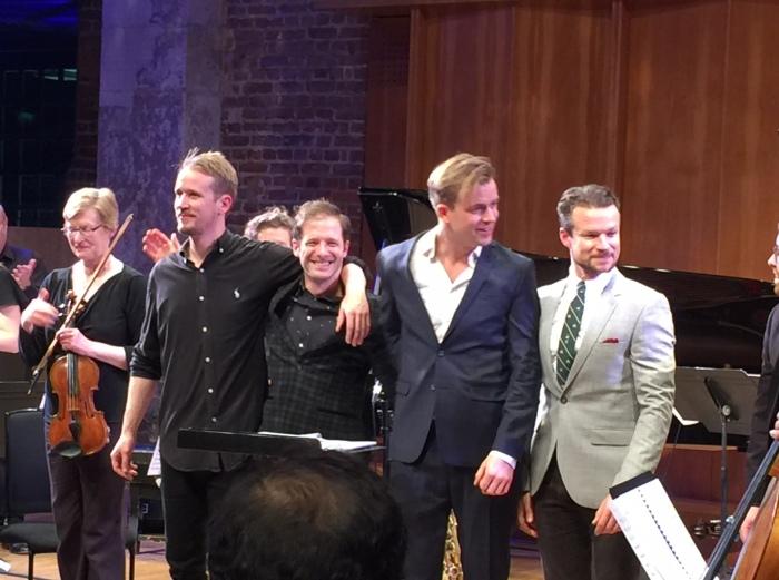 The Marius Neset Quartet  takes a bow (Photo © Sebastian Scotney)