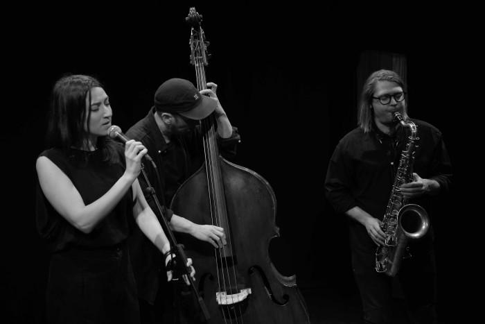 Speak Low: Lucia Cadotsch, Petter Eldh and Otis Sandsjö (Photo © Brian Homer)