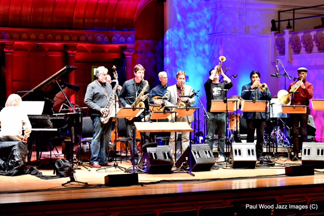 The Liberation Music Orchestra at their Cadogan Hall soundcheck (Photo © Paul Wood/Jazz Images)